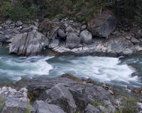 River and Rocks. River along the Annapurna Trail stock photo