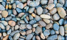 River rocks background. Blue rive rock Stock Photo
