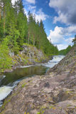 River between rocks with forest Stock Photography