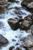 River and Rocks Forest Landscape water flow Royalty Free Stock Photo
