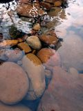 River rocks. Water nature outside clearwater royalty free stock image