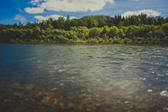 River. Rocky bottom by the river White Yus Royalty Free Stock Photos