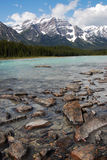 River and rocky mountains Royalty Free Stock Photo