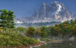 Happy River Valley royalty free illustration