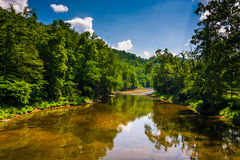 A river in the rural Potomac Highlands of West Virginia. Stock Photography