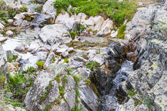 River, Rushing Water Flowing Texture, clear mountain stream Stock Images