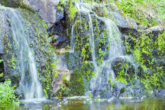River, Rushing Water Flowing Texture, clear mountain stream Royalty Free Stock Photos