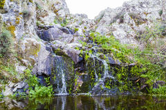 River, Rushing Water Flowing Texture, clear mountain stream Stock Photos