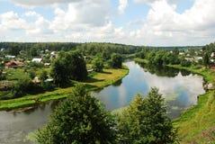 The river Ruza Podmoskove Rossija. The city of Ruza summer Stock Photography