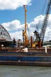 River's edge construction Royalty Free Stock Photo