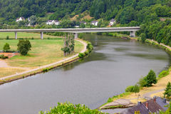 River Saar. By Saarburg, Rheinland-Pfalz, Germany, summer Stock Photo