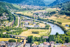 River Saar and city of Saarburg, Germany Royalty Free Stock Photography