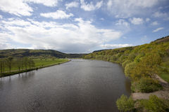 River Saar. Close to the loop of the river Saar near Mettlach, Germany Stock Photography