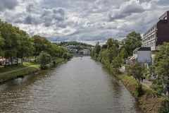 The River Saar In Saarbrucken, Germany. The River Saar Running Through Saarbrucken, Germany, Europe Summer 2017 Stock Image