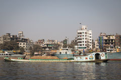 River in Sadarghat, Dhaka, Bangladesh Royalty Free Stock Images