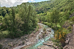The river Santerno in Firenzuola, province of Florence, Tuscany Stock Photography