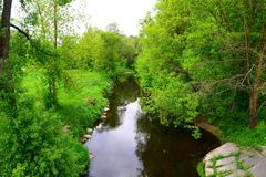 River Sanzile passes through the green forest Royalty Free Stock Photography