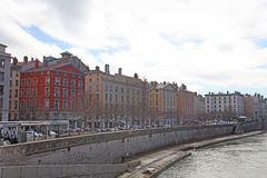 The river Saone in Lyon, France Stock Photo