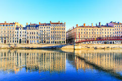 The river Saone of Lyon, France Royalty Free Stock Images