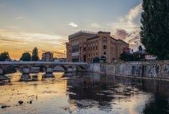 River in Sarajevo Stock Photography