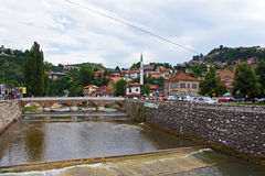 River in Sarajevo Royalty Free Stock Photography