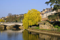 The river Sarthe at Le Mans in France Royalty Free Stock Photography