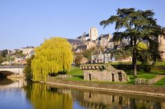 The river Sarthe at Le Mans in France Royalty Free Stock Image