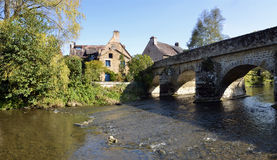 The river Sarthe at Saint-Ceneri-le-Gerei Stock Photography