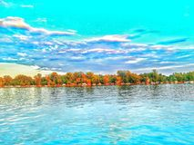 River Sava Serbia. Novi Beograd Blok45 Royalty Free Stock Photos