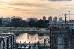 River Sava and Street Royalty Free Stock Photo