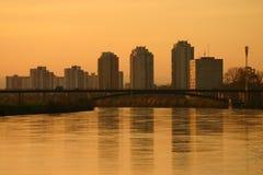 River Sava and Zagreb Stock Photo