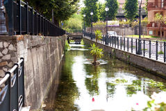 River in Scafati, Italy royalty free stock image