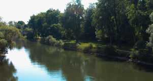 river scena spokojna obrazy stock
