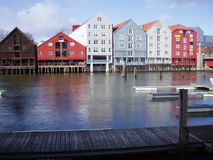 River scene. The river Nidelven in Trondheim, Norway stock photography