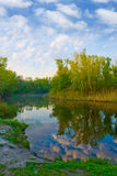 River scene at morning Royalty Free Stock Photography