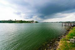 Tuxpan River, Mexico. A river scene from Tuxpan, Mexico on the Gulf Coast of Mexico royalty free stock image