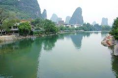 River scenery. The landscape of Yulong River in Yangsuo, Guangxi, China Royalty Free Stock Image