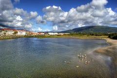 River scenery in Vila Praia de Ancora Royalty Free Stock Photo