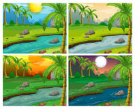 River scenes at four different times Stock Image