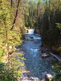River in Scenic Johnston Canyon, Banff National Park stock photography
