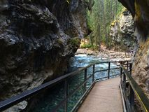 River in Scenic Johnston Canyon, Banff National Park stock photo