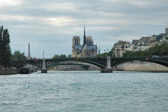 River Seine. And Cathedral - Paris Stock Photos