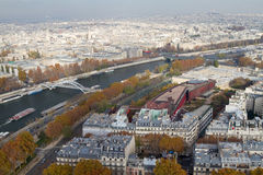 River Seine From Above, Paris Stock Photography