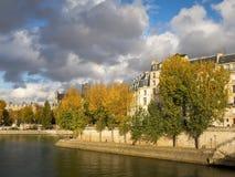 The river Seine in autumn, Paris Stock Photos