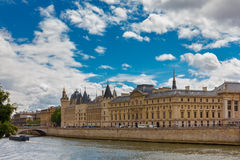 River Seine and the Conciergerie in Paris, France Royalty Free Stock Photo