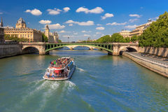 River Seine and the Conciergerie in Paris, France Stock Image