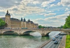 The river seine and the conciergerie of Paris,  Paris, France Stock Photo