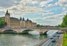 The river seine and the conciergerie of Paris,  Paris, France Stock Photo
