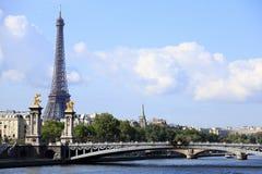 River Seine Eiffel Tower Paris France Royalty Free Stock Image