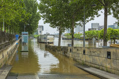 River Seine Flooding in Paris Royalty Free Stock Image